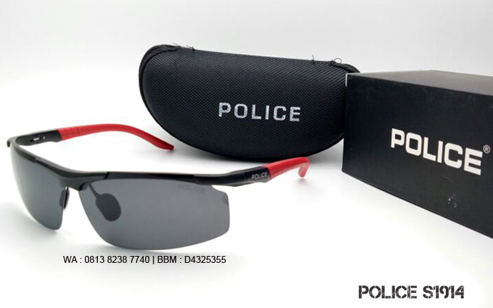 kacamata police 1914 black red